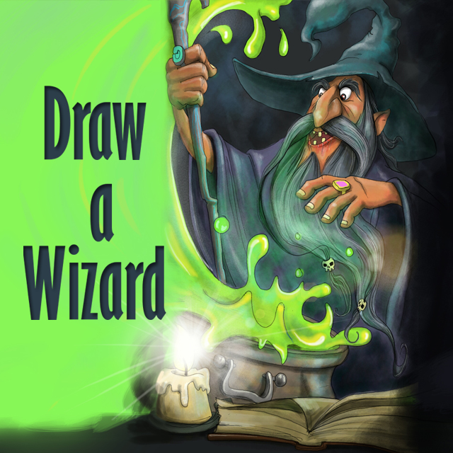 wizard drawing art contest