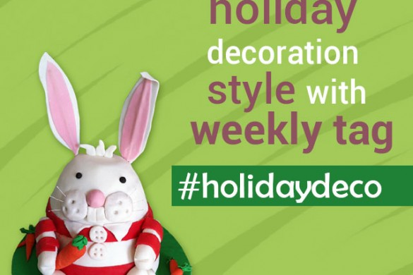 What is your holiday decoration style this spring? Weekly tag: #holidaydeco