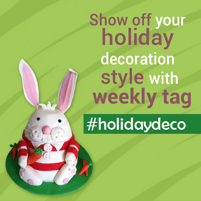 holiday deco photo tag