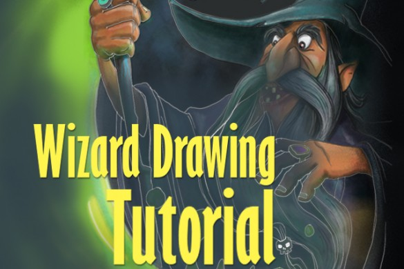 Step by Step Tutorial on How to Draw a Powerful Wizard