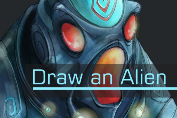 Draw a Visitor from Another Planet for the Alien Drawing Challenge