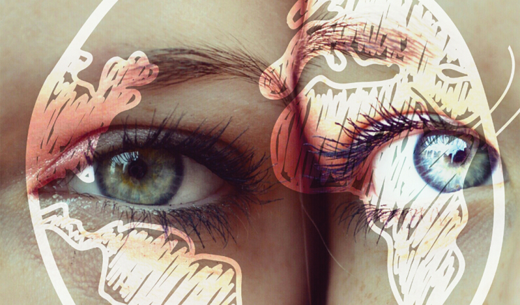 Eyes photo edited for Earth day by picsart