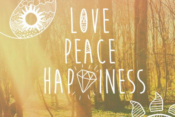 Download Our Love, Peace, and Happiness Clipart Package