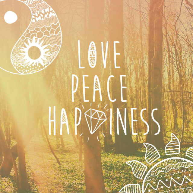 Love, Peace, Happiness Clipart Package