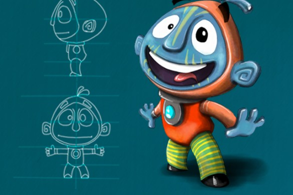Draw Your Very Own Cartoon Character for the Drawing Challenge