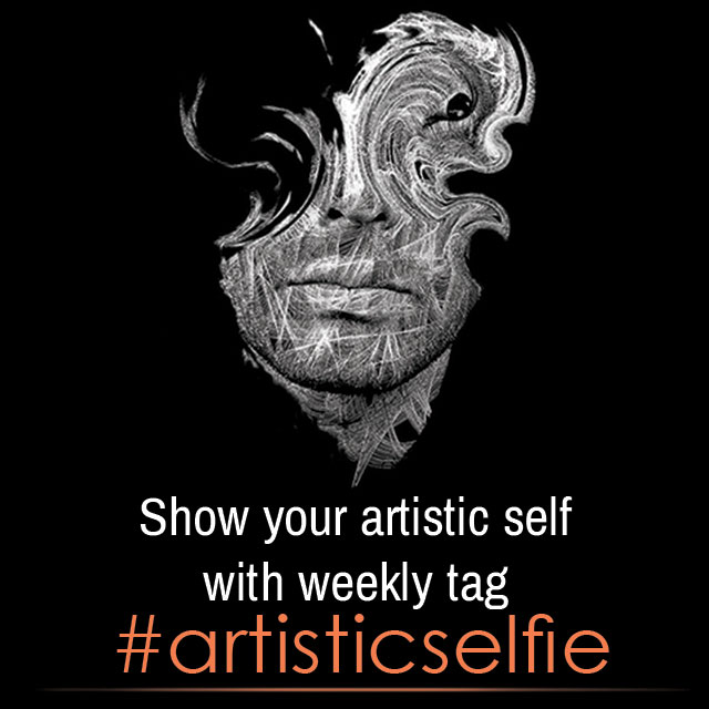 artistic selfies photo tag