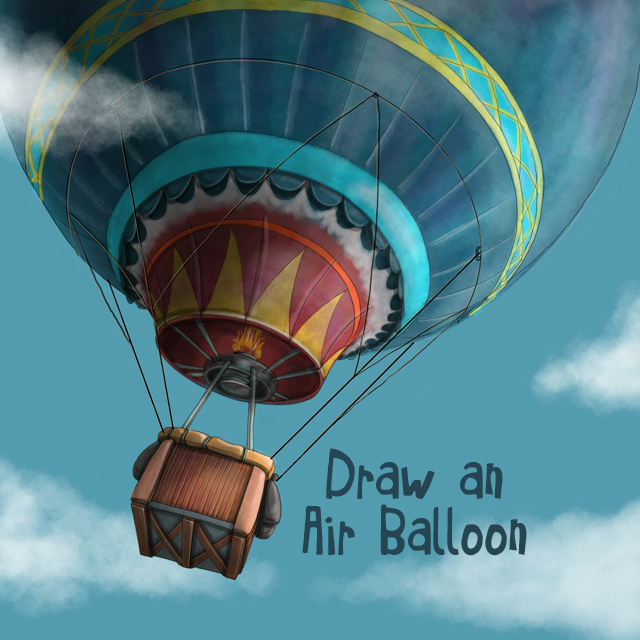 Air balloon drawing contest