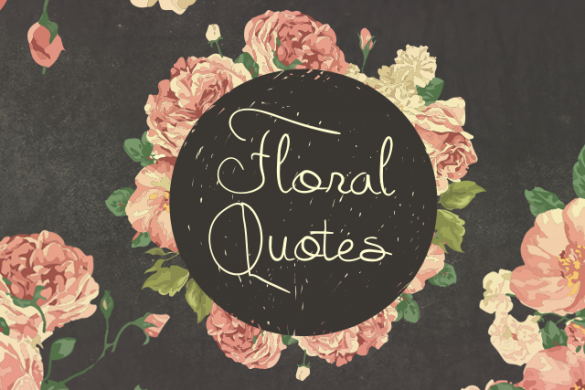 New Floral Quotes Clipart Package