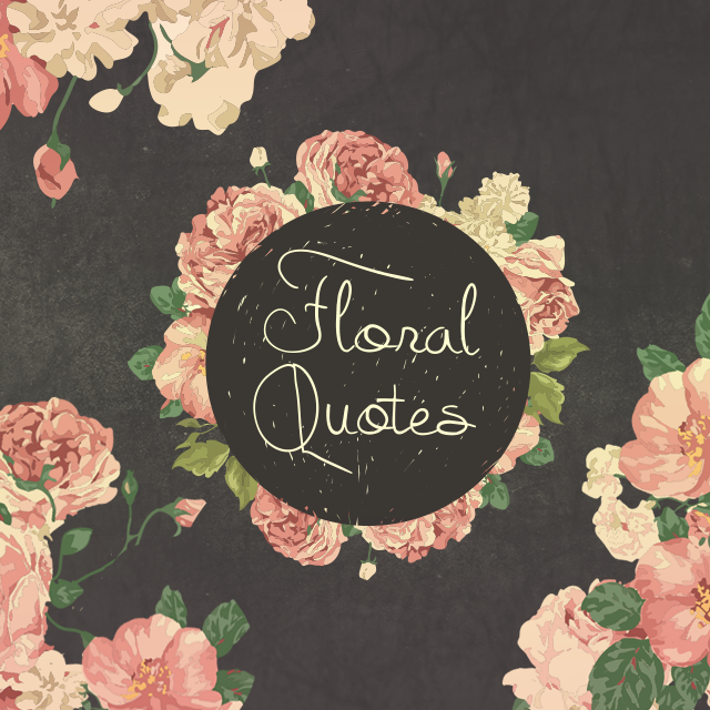 photo editing with floral quotes