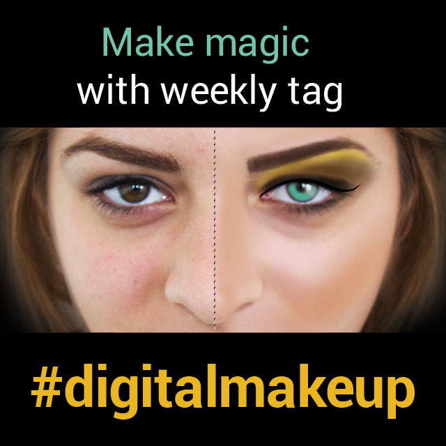 photo editing with digital makeup