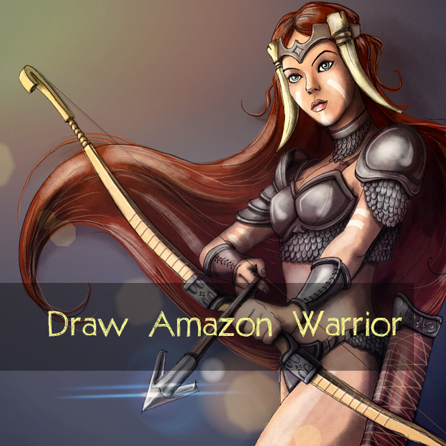 amazon warrior drawing contest