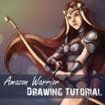 Amazon Warrior drawing tutorial