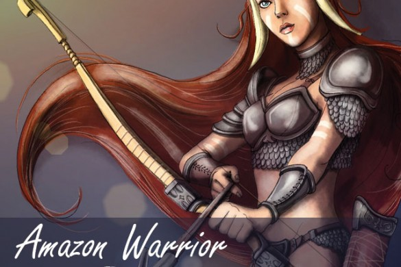 Drawing Tutorial: Learn How to Draw an Amazon Warrior Woman