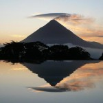 Photo of a mountain with water reflection in Costa Rica