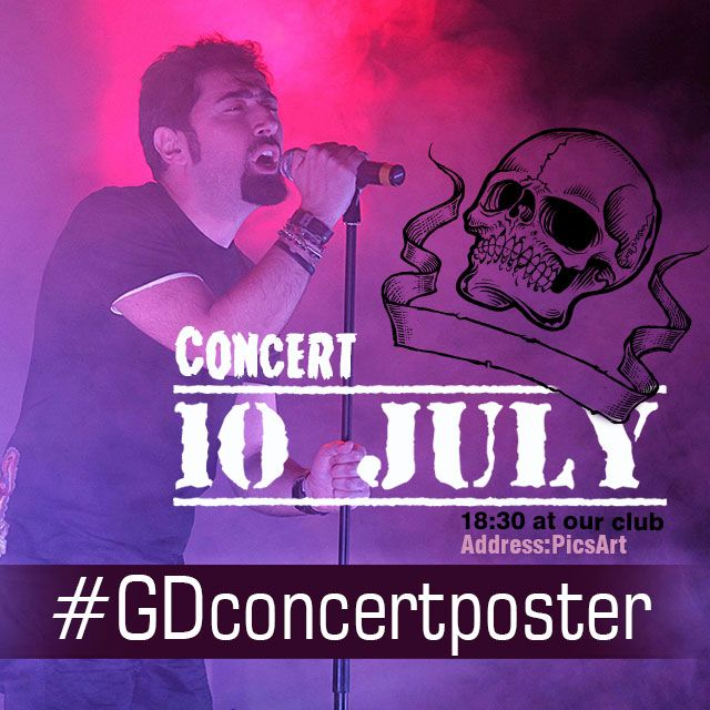 concert poster graphic design contest