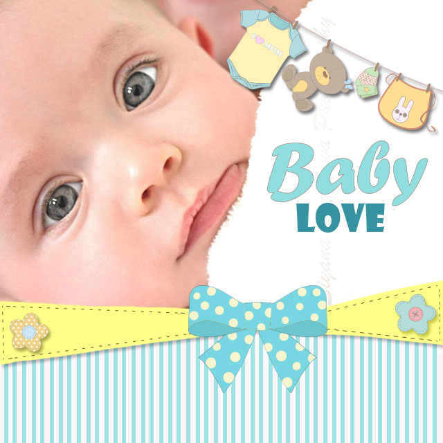 baby love clipart package