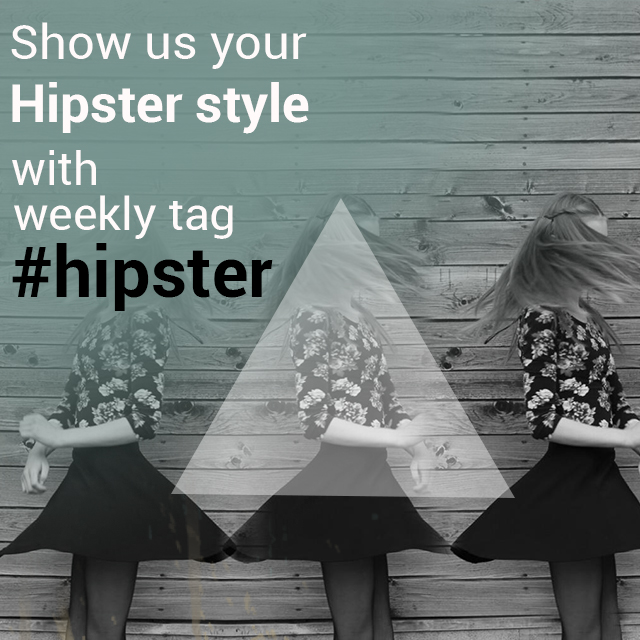 hipster photo tag