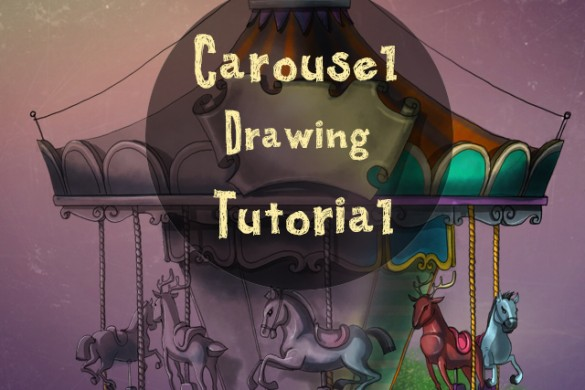 How to Draw a Carousel Step by Step Using PicsArt
