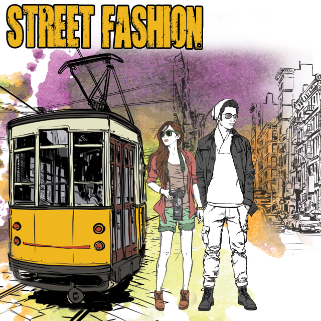 street fashion photo editing clipart package