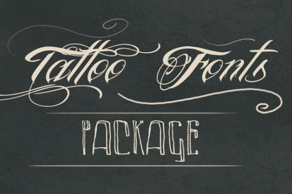 Download our New Tattoo Fonts Package from PicsArt Shop Now!