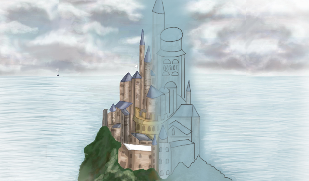 Drawing tutorial for castle drawing challenge