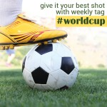 Ball under boot with worldcup tag