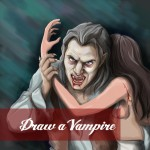 Draw a vampire with picsart drawing tool