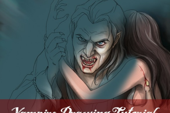 How to Draw a Dreadful Vampire with PicsArt