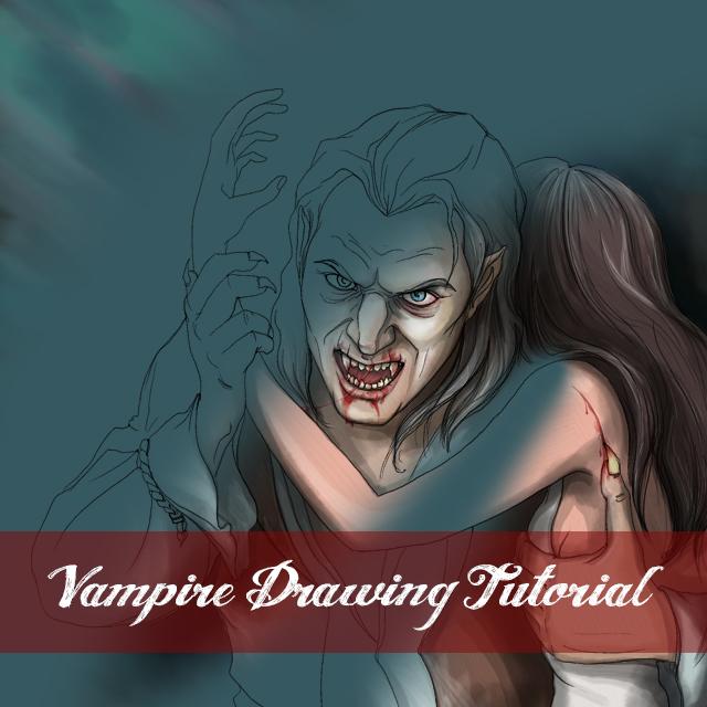 Vampire drawing tutorial with picsart