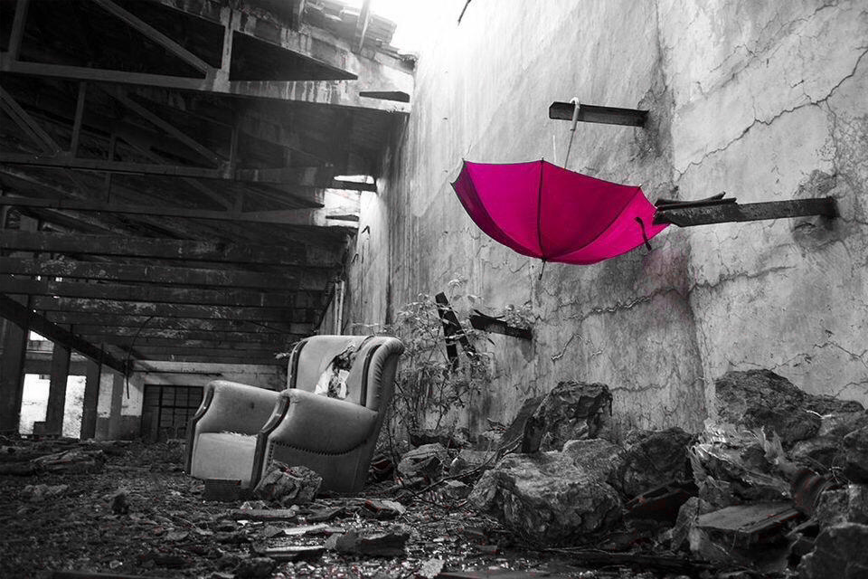 Color splash with black and white