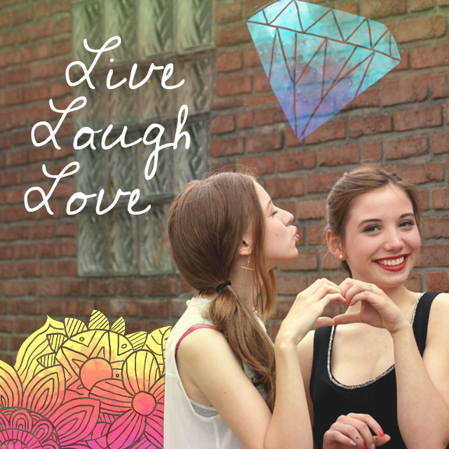 live, laugh, love clipart package