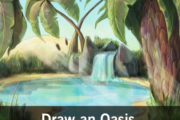 Paint a Desert Oasis with PicsArt for our Drawing Challenge
