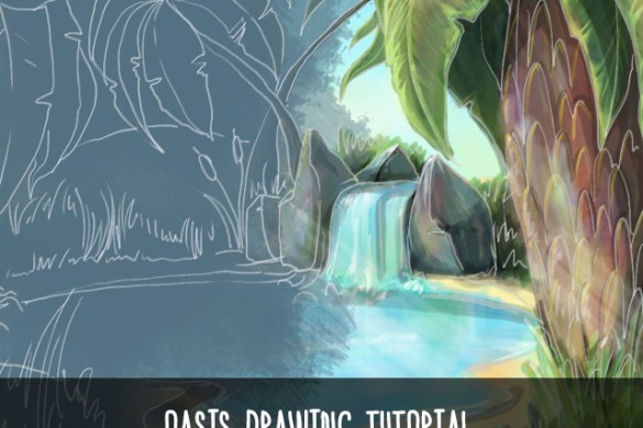 Drawing Tutorial: How to Use PicsArt to Draw a Desert Oasis