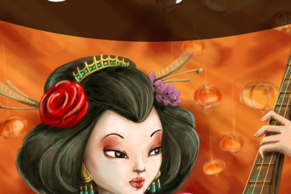 Draw a Japanese Geisha with PicsArt for our Drawing Challenge