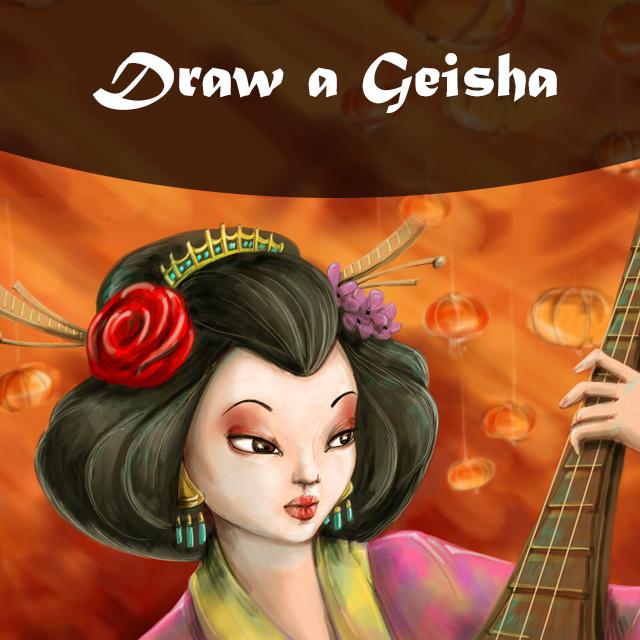 Draw Geisha with picsart