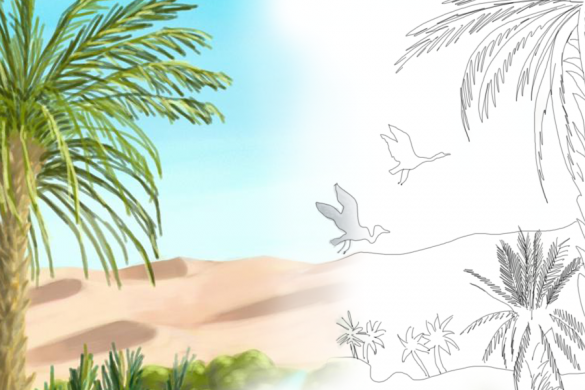 PicsArtists Share Tutorials on How to Draw an Oasis