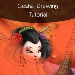 Geisha drawing tutorial using picsart drawing tool