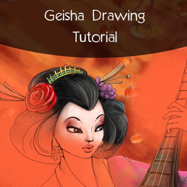 Geisha drawing tutorial using picsart drawing tool