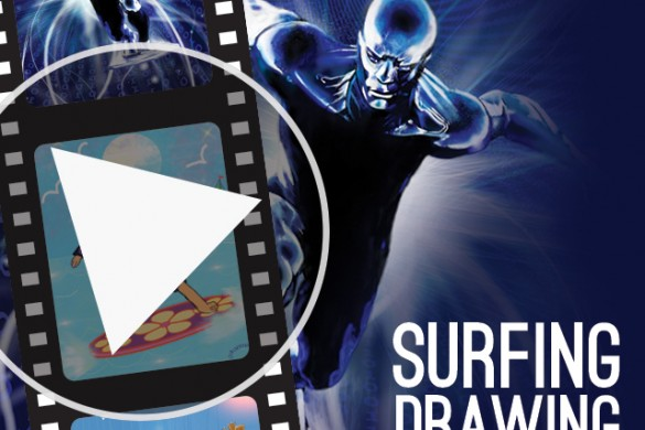 PicsArtists Share Video Tutorials from the Surfing Drawing Challenge