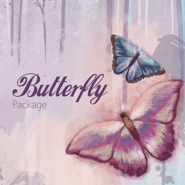 New clipart of 47 kinds of butterflies