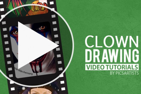 Video Drawing Tutorials from Last Week's Clown Drawing Challenge