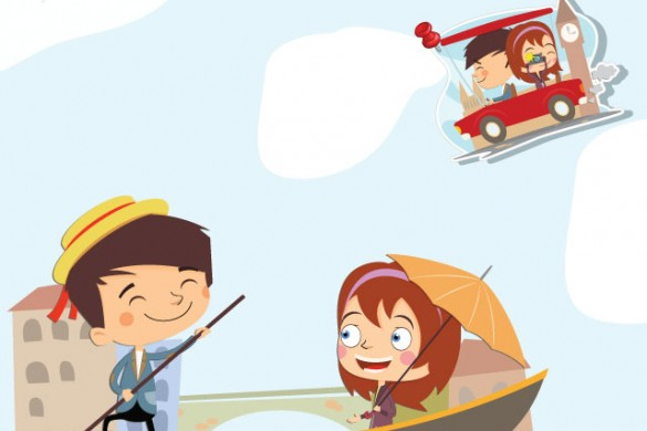Traveling with Love Clipart! Adorable Cartoons Available in the Shop!