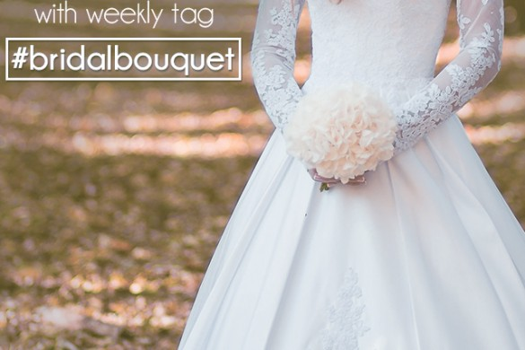 Share the Moment of the Wedding Bouquet Toss with #bridalbouquet