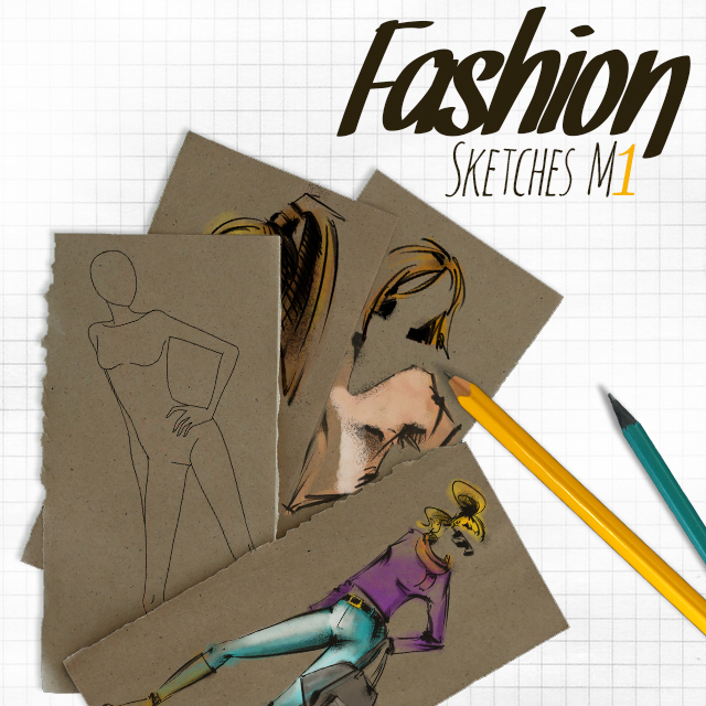 fashion sketch clipart