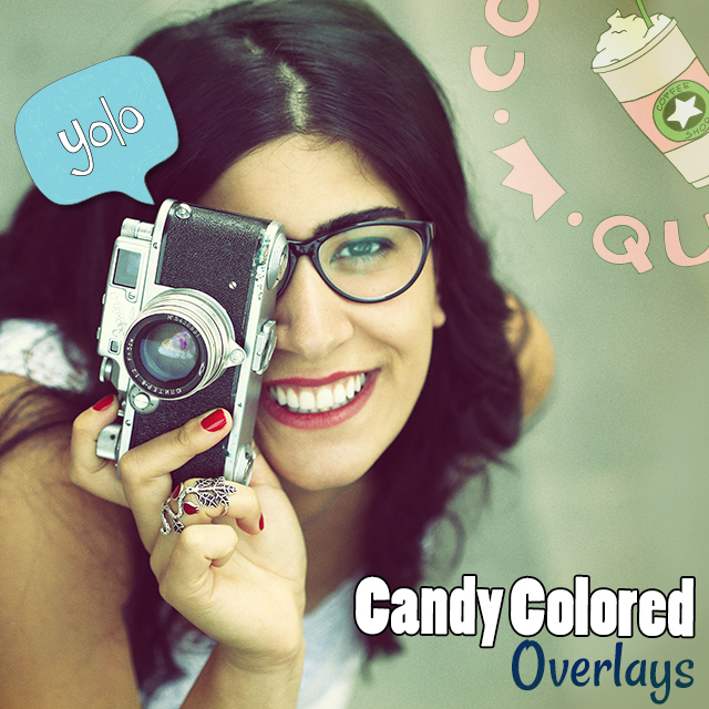 candy colored overlays