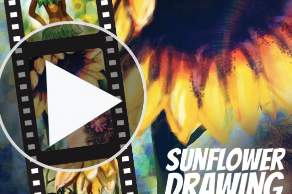 Watch Sunflowers Drawn Before Your Eyes in Time-Lapse Videos