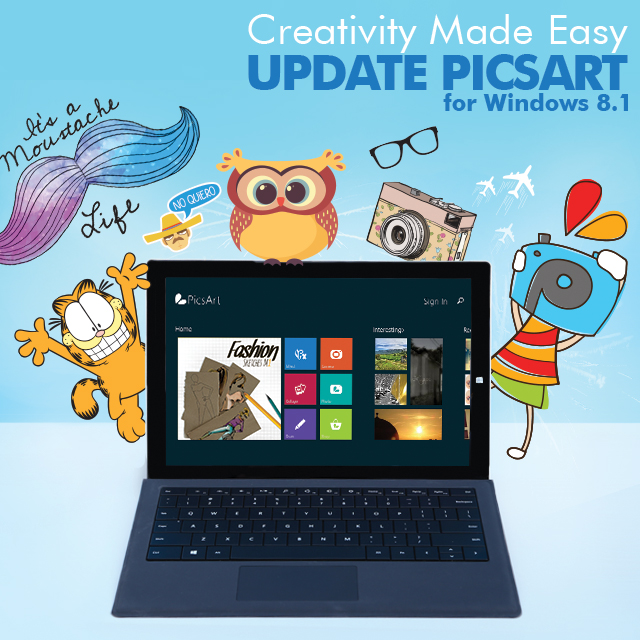 Update PicsArt for Windows 8 1: More Creative Control on