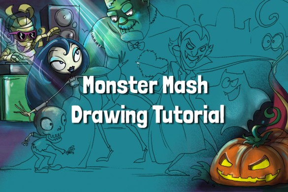 How to Draw a Monster Mash Step by Step with PicsArt