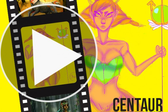 Time-Lapse Videos of Centaur Drawings from Users