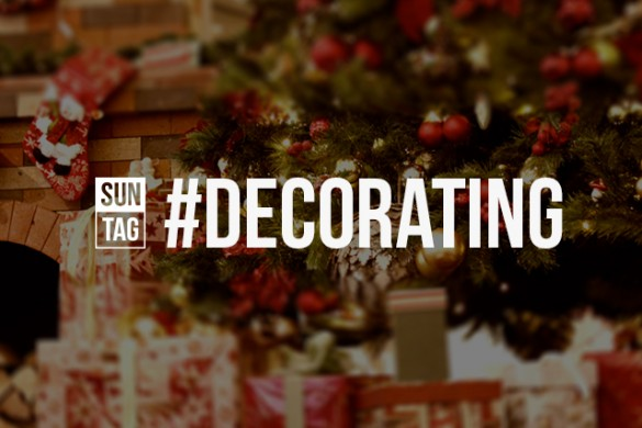 Deck the Halls with the Sunday Hashtag #decorating